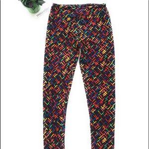 LulaRoe leggings one size colorful